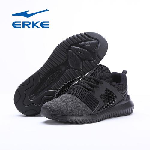 Erke  Mens Jogging Shoes Breathable Mesh Sneakers