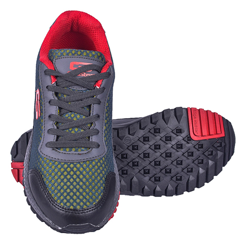 Goldstar Grey Red Sports Shoes For Men G10-404