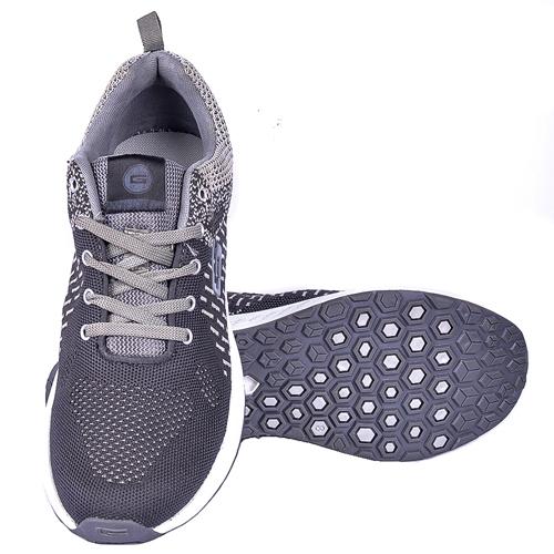 Goldstar Black Grey Sports Shoes For Men G10-204