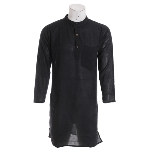 Men's Summer Long Black Fashion Kurtha Collection