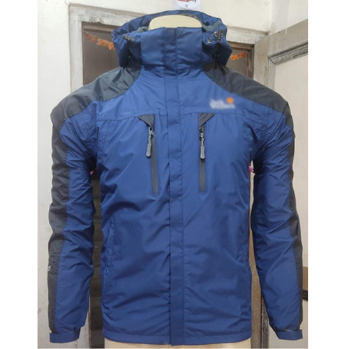Blue Windcheater Jacket with Hoodie Cap