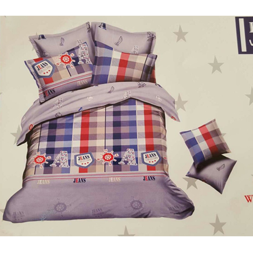 Cotton King Size Bed Sheet  2 Pillow Covers