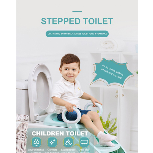 Large Plastic Chair Baby Potty Seat Toilet Baby Potty Trainer For Baby With Ladder
