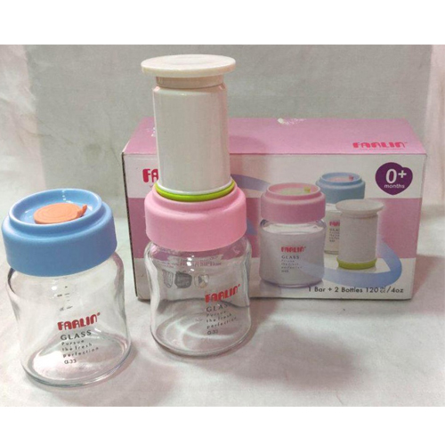 """Farlin Glass Storage Bottle With Special """"vacuum """"seal"""