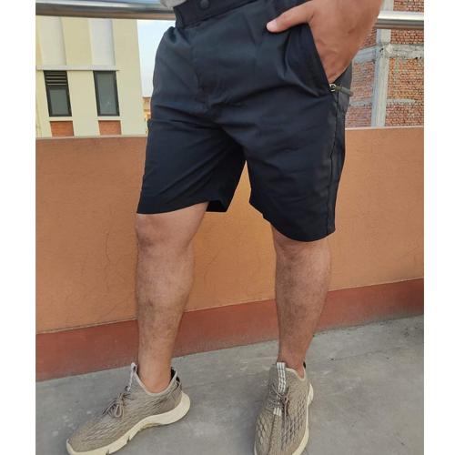 Men's Regular Black Fit Cotton Woven Shorts