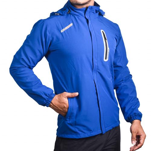 Royal Blue Cotton Windcheater Jackets For Men's