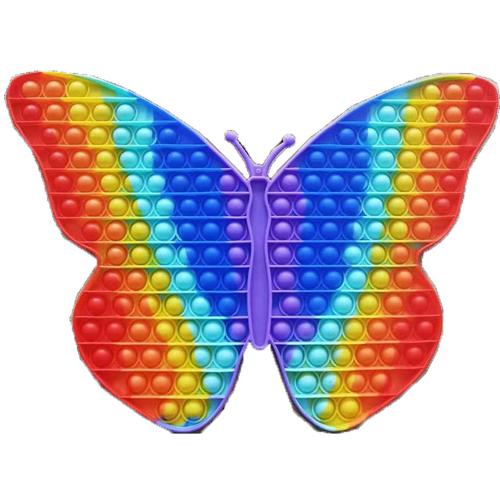 Big Size butterfly Poppet Fidget Toys Clip Finger Silicone Bubble Kids Sensory